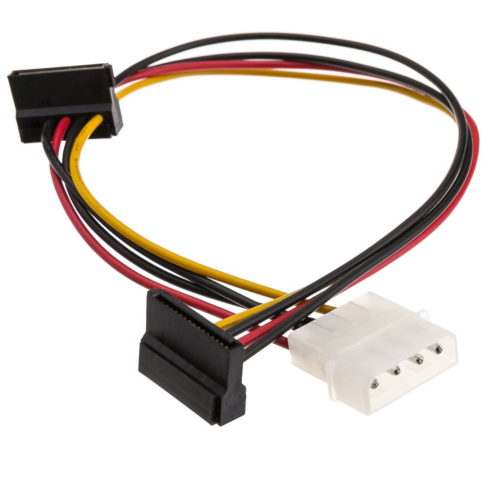 Molex To Dual Sata Power Cable 4 Pin Male Slimline Ata Connector 6 Serial Female 14 Inch Computers Accessories
