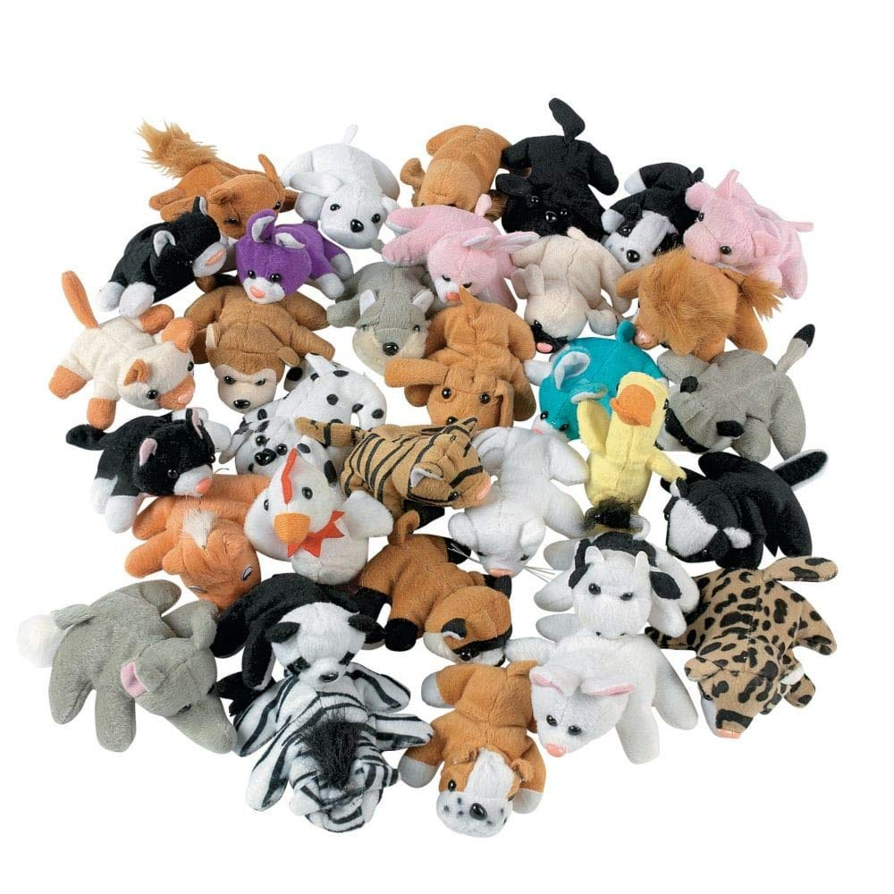 Plush Mini Animal Assortment by Fun Express
