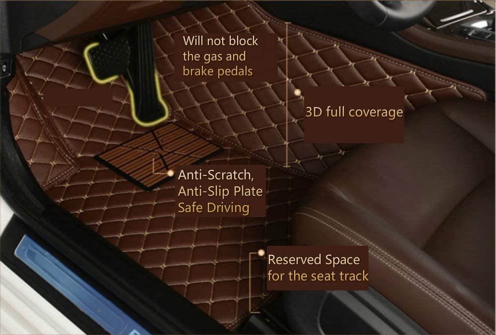 Custom Car Floor Mats for Jaguar XF Tourer 2018 All Weather Waterproof Non-Slip Full Covered Protection Advanced Performance Liners Car Liner Black