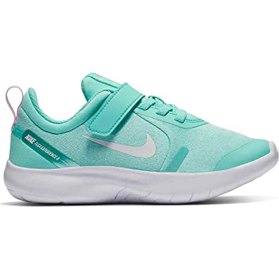 5cf0f72f3540 Nike Kids Girl s Flex Experience RN 8 (Little Kid) Light Aqua White