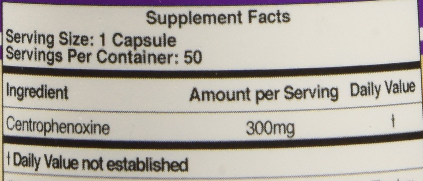 Double Wood Centrophenoxine Capsules 300mg, 50 Count, Third Party Tested Aging Brain Support Supplement (Made in The USA) Nootropic for Memory and Focus by Double Wood Supplements (Image #3)
