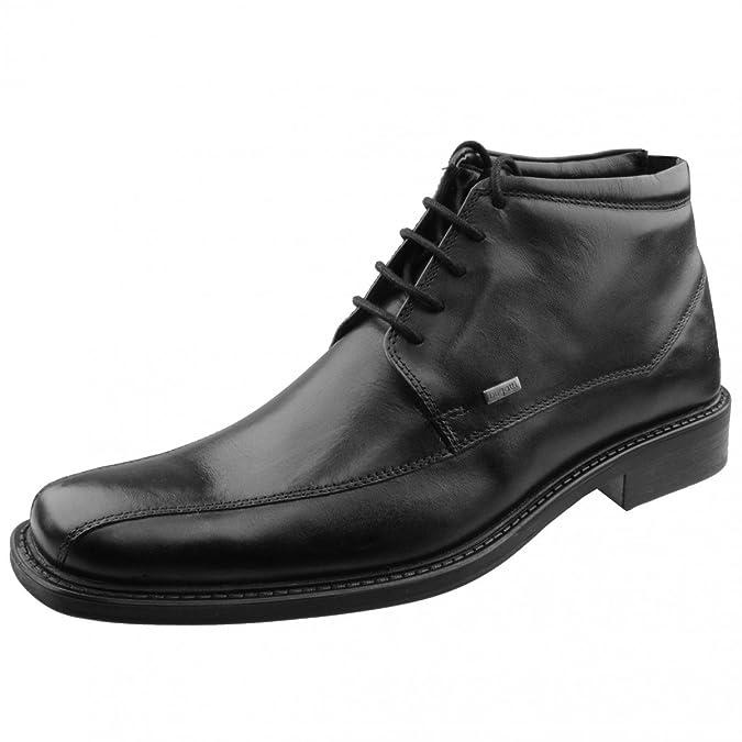 bugatti herren business stiefelette schwarz komfortweite