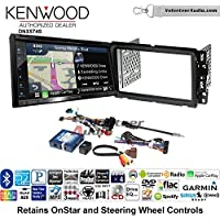Volunteer Audio Kenwood DNX574S Double Din Radio Install Kit with GPS Navigation Apple CarPlay Android Auto Fits 2000-2005 Saturn S/L Series