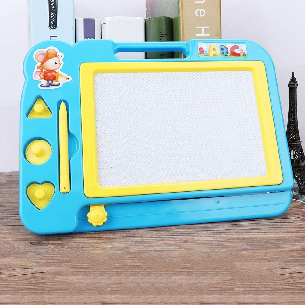 Blue Magnetic Drawing Board 1Pc Colorful Magnetic Drawing Doodling Board Erasable Magnet Writing Sketching Pad for Toddlers Learning