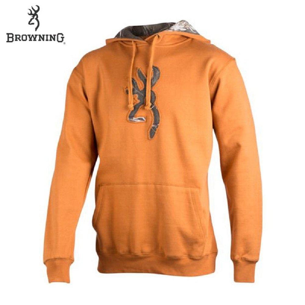 8b9e30c87d384 Amazon.com: Browning Buckmark Camo Hoodie (L)- Cathay Spice/RTAP: Sports &  Outdoors
