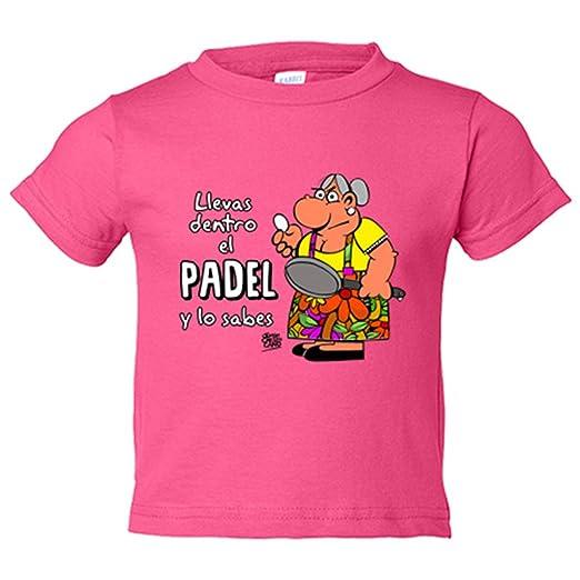 Camiseta niño Padel tenis Llevas dentro el padel y lo sabes - Amarillo, 3-4 años: Amazon.es: Bebé