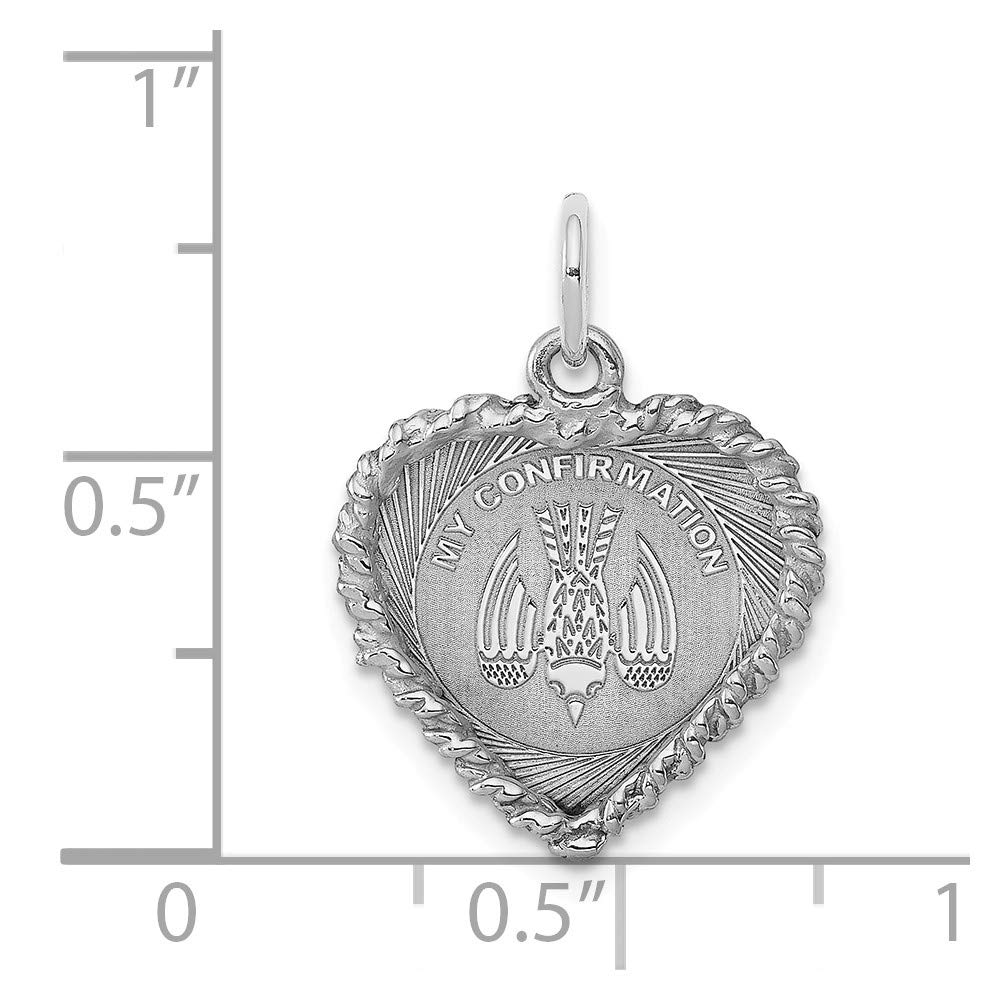 FB Jewels Solid Sterling Silver My Confirmation Disc Charm