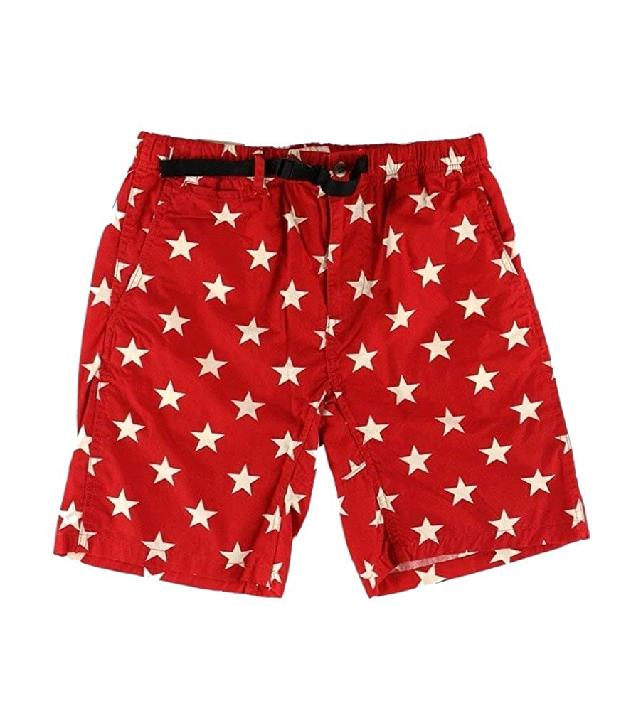 Denim & Supply Ralph Lauren Men's American Star-Print Hiking Chino Shorts 788611598001