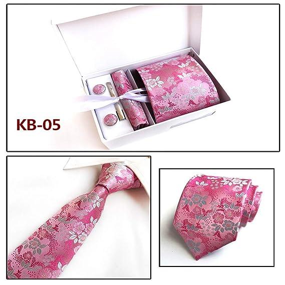 XiaoHeJD Corbata de moda Corbata para hombre, Pañuelo de bolsillo ...