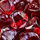 Red Fire Glass for Indoor and Outdoor Fire Pits or Fireplaces |...