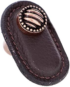 Vicenza Designs K1171 Sanzio Leather Lines And Dots Knob Large Brown Antique Copper Cabinet And Furniture Knobs Amazon Com