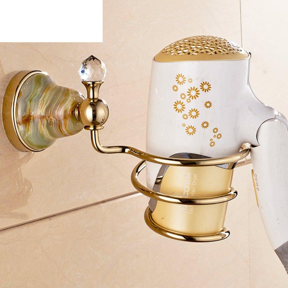 Hair Dryer Holder,Hair Dryer Shelf,Hair Blow Dryer Holder, European Copper Hair Dryer Rack Blower Shelf Bathroom Hardware Accessories