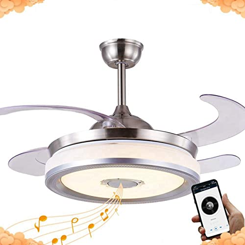 42 Inch Modern Retractable Ceiling Fan