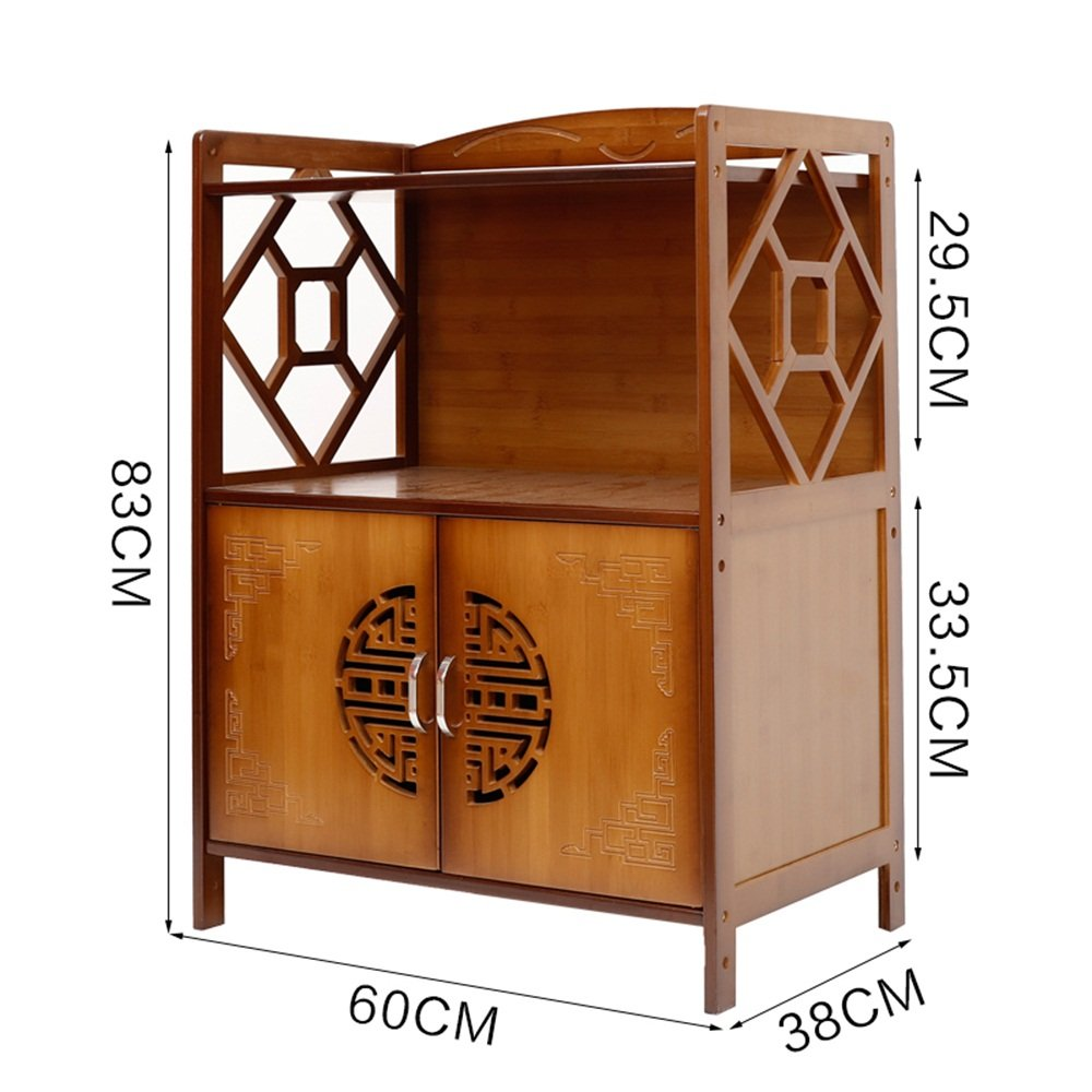 Étagère de cuisine - étagère à micro-ondes - étagère multifonctionnelle - étagère de rangement en bois massif étagère -