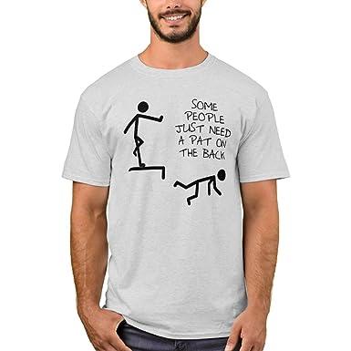 e2b3b25fe Amazon.com: Zazzle Men's Basic T-Shirt, Pat On The Back Funny T ...