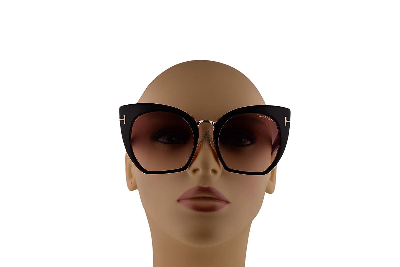 1d07a266d96 Tom Ford FT0553 Samantha-02 Sunglasses Black w Bordeaux Gradient Lens 55mm  05U TF553  Amazon.ca  Clothing   Accessories