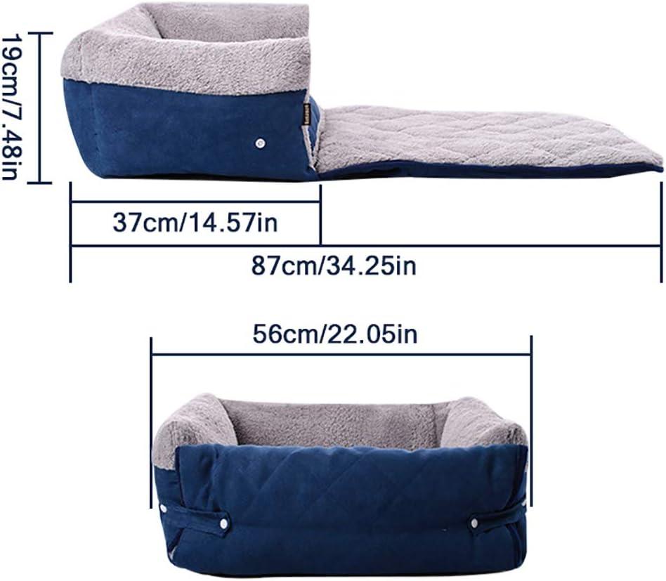 FREESOO-Panier-Lit-pour-Chien-Chat-3-en-1-Super-Doux-Confortable-M-M-Bleu miniature 2