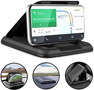 Yoocaa Phone Dash Holder, Dashboard Phone Holders for Various Dashboards, Universal Dash Mount Cell Phone Holder for Smartphone