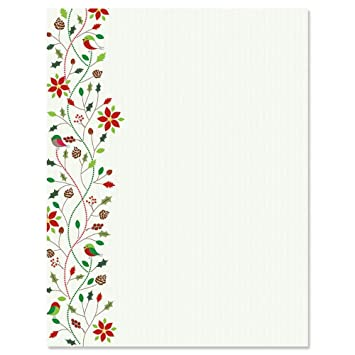 amazon com holiday twist christmas letter papers set of 25
