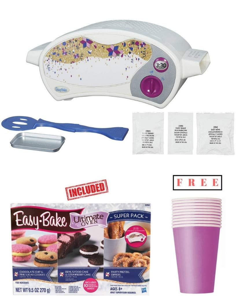 Easy Bake Ultimate Oven, Baking Star Super Treat Edition with 3 Mixes and Refill Super Pack Included. for Ages 8 and up.