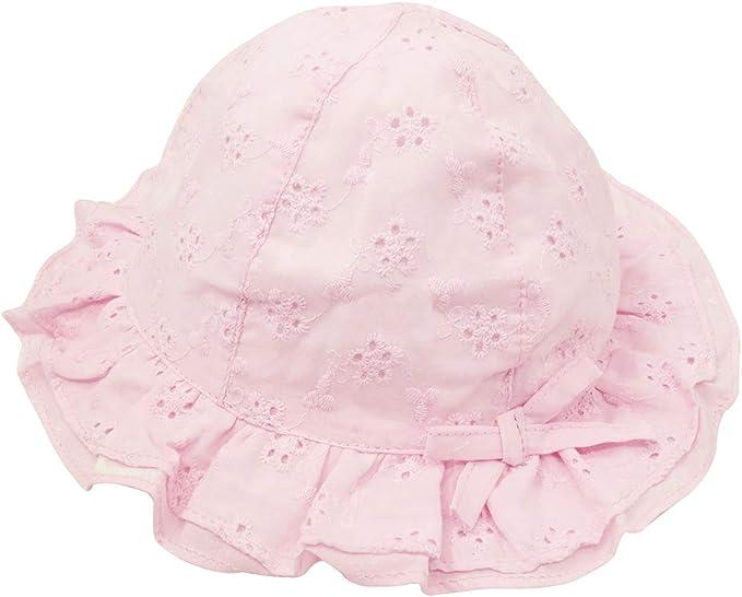 Sombrero Pescador para Beb/és Recien Nacido Ni/ñas 0 Meses-4 a/ños Suave Gorro de Sol con ala Infantil para Playa Verano Happy cherry
