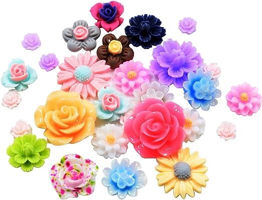 Handmade DIY Resin Flowers Crafts Flatback Scrapbooking For Phone//wedding