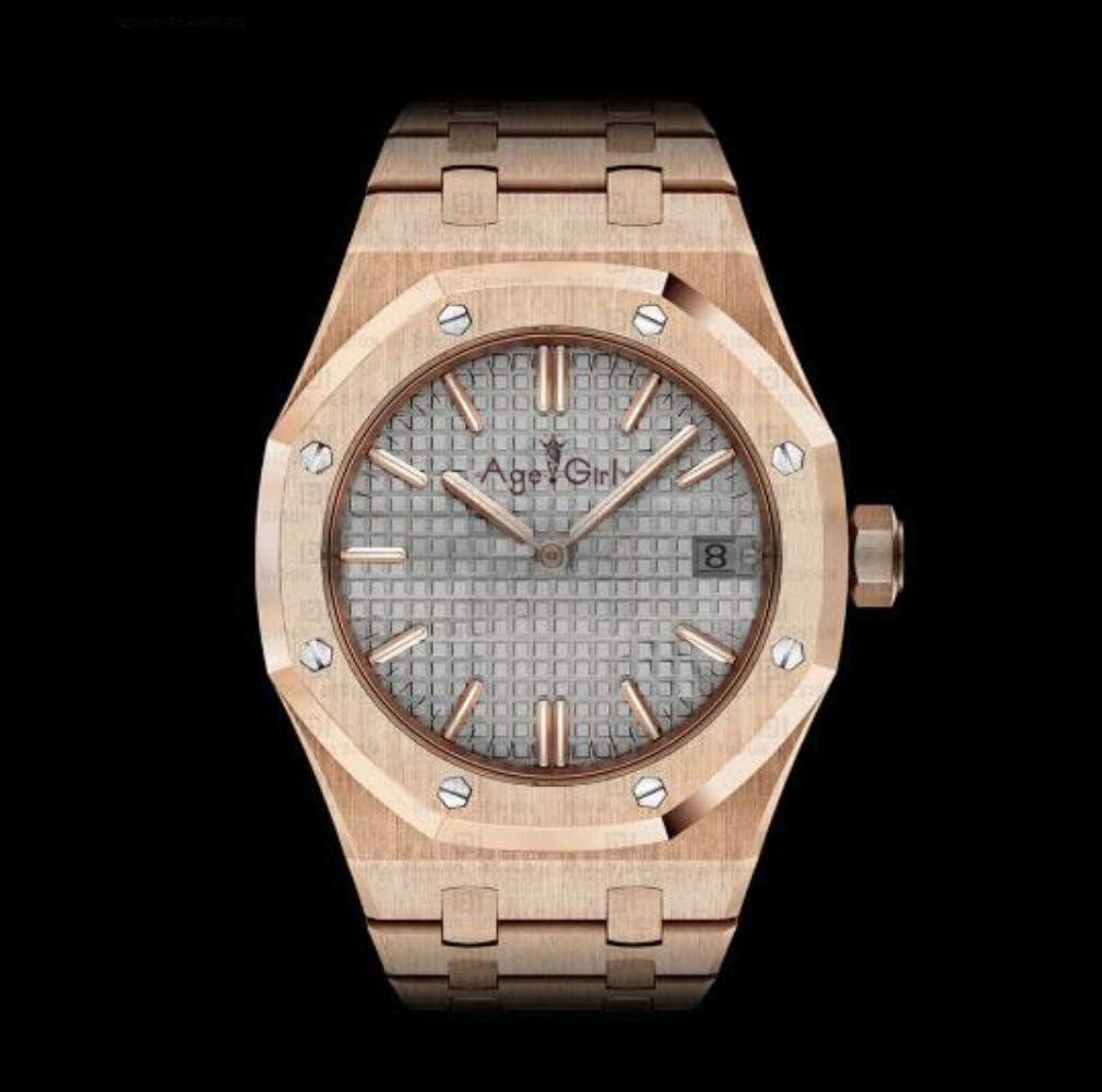 AHELUSB Relojes Deportivos automáticos automáticos Relojes Deportivos de Acero Inoxidable para Hombres Reloj Negro Plateado Azul Rosa Dorado8