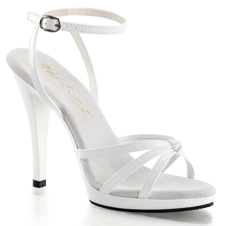 Pleaser Women's Flair-436/W/M Platform Sandal B00HVA0HVY 13 B(M) US|White Pat/White