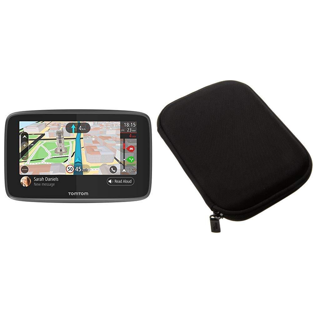 TomTom GO 5200 Pkw-Navi /& Basics Hartschalenetui f/ür 5-Zoll-Navigationsger/äte schwarz 5 Zoll mit Updates /über Wi-Fi, Lebenslang Traffic via SIM-Karte, Weltkarten, Freisprechen