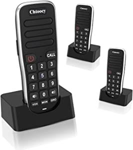 Handheld Intercoms Wireless for Home 1 Mile Range 10 Channel, Chtoocy Rechargeable Wireless Intercom System for Home Business Office, Home Room to Room Communication System (3 Packs, Black)