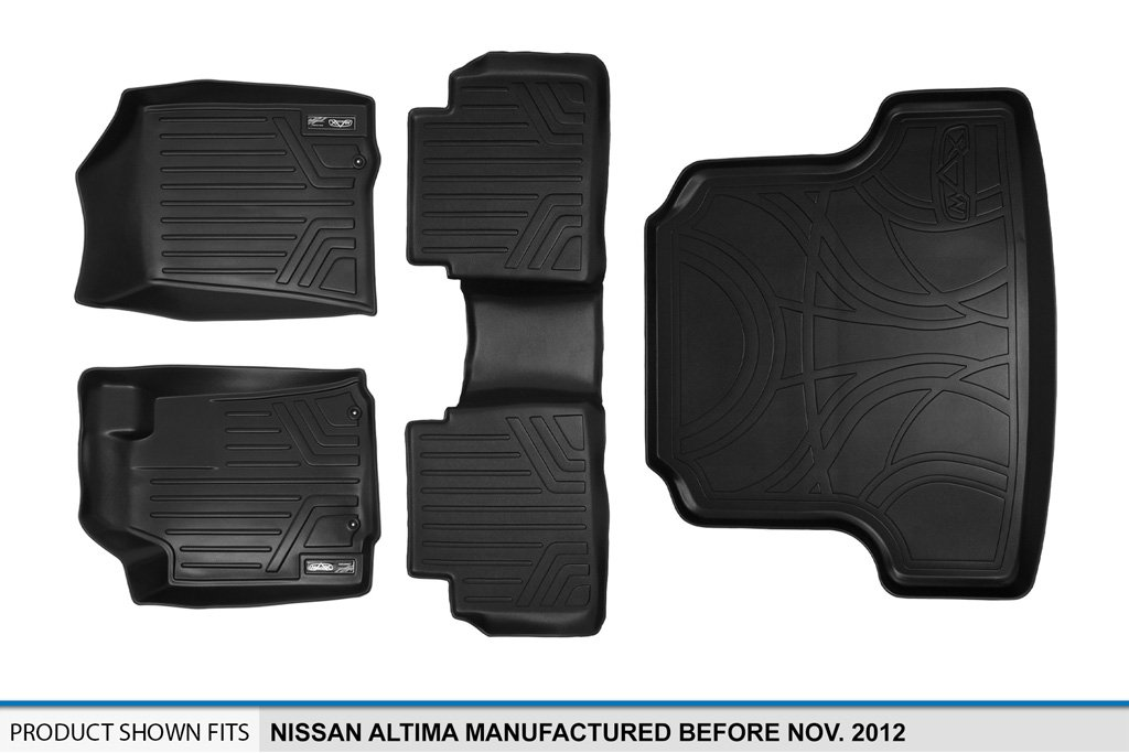 MAXLINER Floor Mats 3rd Row Liner Black for 2013-2018 Hyundai Santa Fe