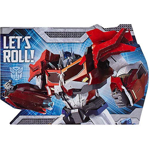 Transformers Optimus Prime Birthday Party Invitation 16 Count Save the Date Stickers]()