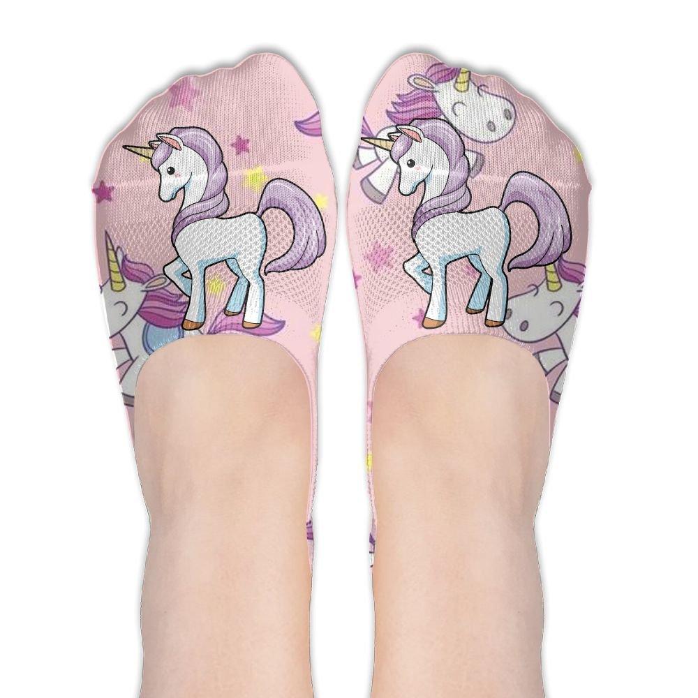 Magical Unicorn Womens Cotton Casual Liner Socks Non Slip Flat Boat Ankle Socks