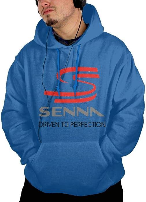 b24b095d804 NEST-Homer Men s Hoodies Ayrton Senna - S Pullover Hooded Print Sweatshirt  Jackets with Pocket
