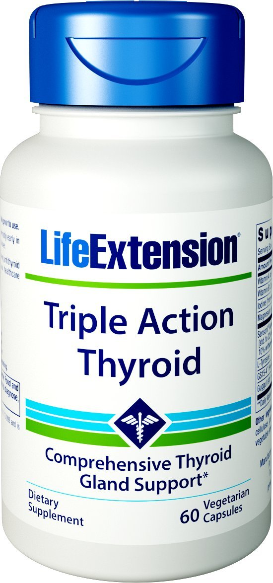 Life Extension Triple Action Thyroid, 60 Vegetarian Capsules