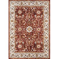 Momeni Rugs BRIGHBR-02RST2380 Brighton Collection Traditional Persian Design Area Rug, 23 x 80 Runner, Rust