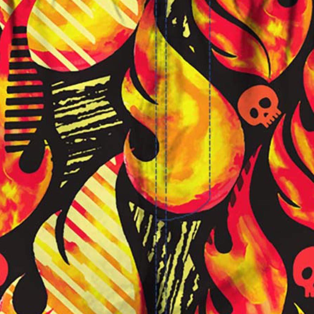 NUWFOR Men Casual 3D Graffiti Printed Beach Work Casual Men Short Trouser Shorts Pants(Z2-Multi Color,US:M Waist9.9-33.9'') by NUWFOR (Image #5)