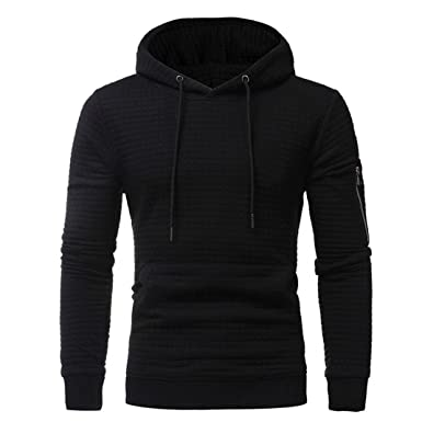 4ea00d2b Mens' Hooded,kaifongfu Long Sleeve Plaid Hoodie Hooded Sweatshirt Tops  Jacket Coat Outwear (