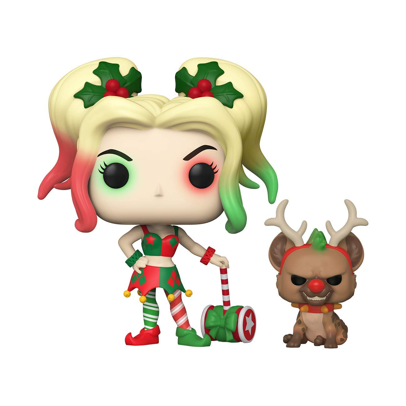 Funko Pop! DC Heroes: DC Holiday - Harley Quinn with Helper, Multicolor, 3.75 inches (50656)