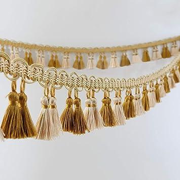 1M Curtain Accessories Tassel Fringe Trim Braided Pendants Edging Drapery Sewing