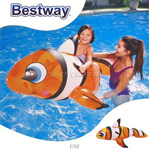 H2OGO! Clown Fish Ride On Inflatable Pool Float