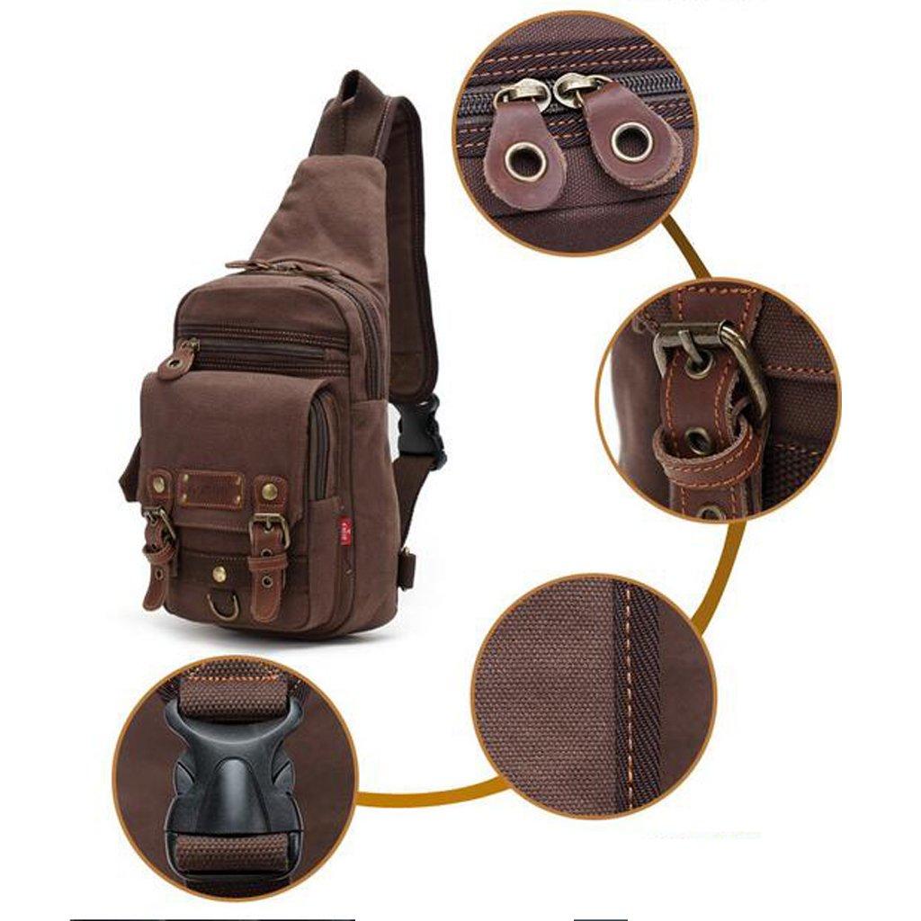 monkeyjackクールカジュアルスリング胸デイパックノートパソコン用バックパックキャンプトレッキングハイキング旅行  アーミーグリーン B074W5NXJT