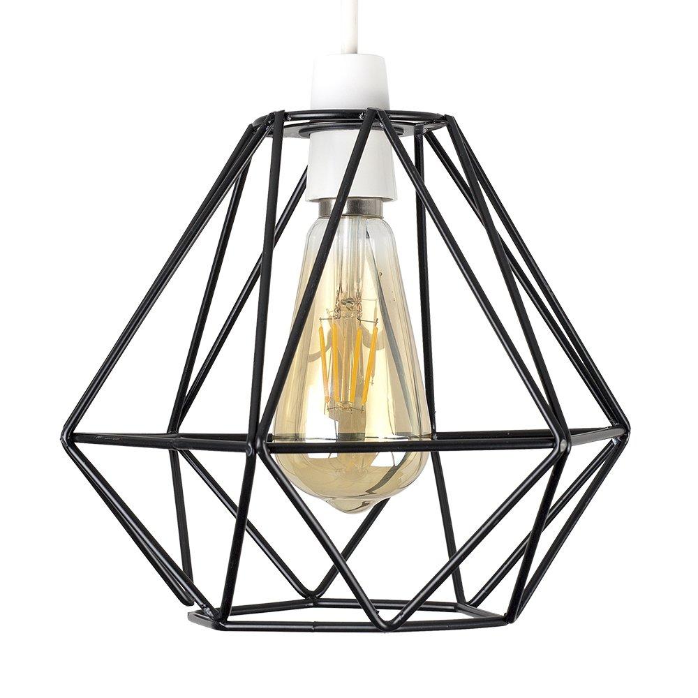 Retro Style Black Metal Basket Cage Ceiling Pendant Light ...