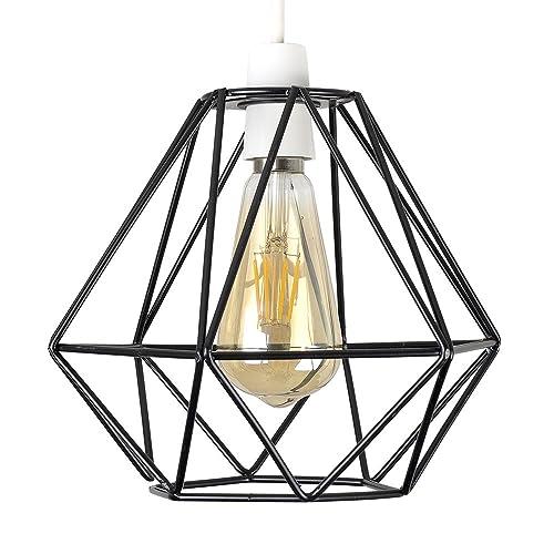 Modern Vintage Industrial Metal Cage Loft Pendant Lamp