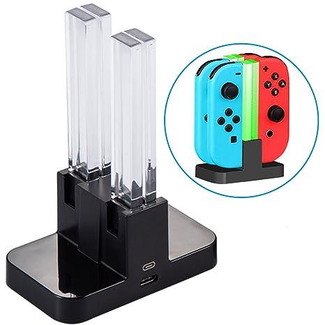 Estación de Carga para Nintendo Switch [4 en 1 Joy-con ...