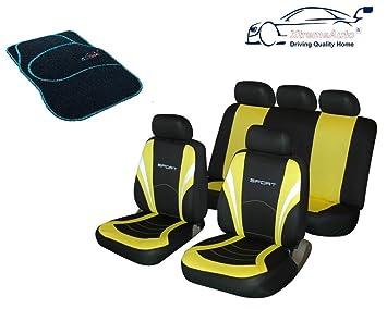 13pc Car seat cover set c//w  4 mats steering wheel /& seat belt pads Dragon PINK