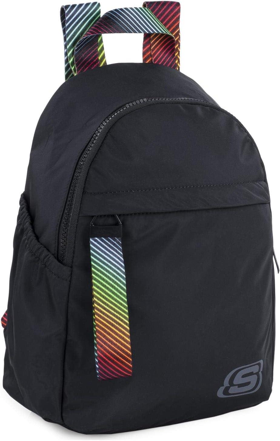 SKECHERS - Mochila Pequeña Mujer con Bolsillo Interior Tablet Ideal para Uso Diario Práctica Cómoda Versátil S895, Color Negro
