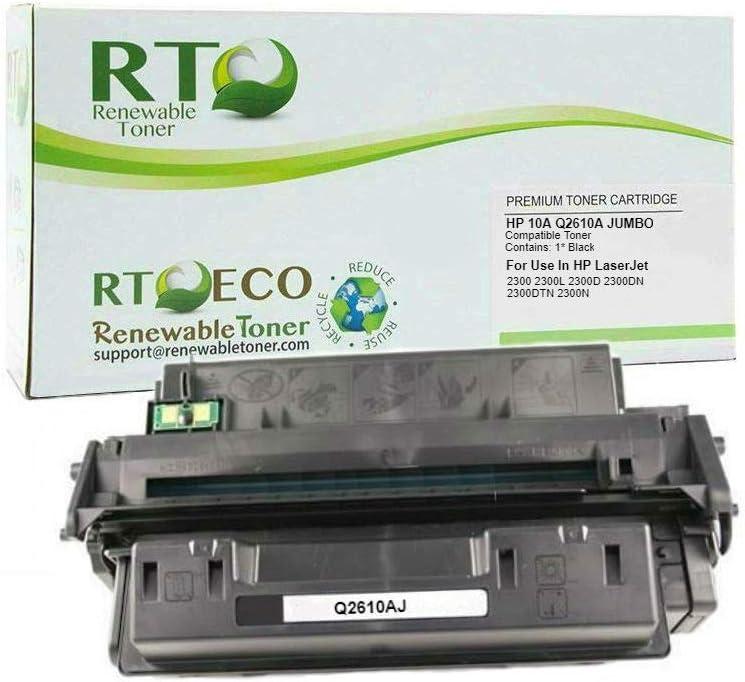 Renewable Toner Compatible Toner Cartridge Jumbo Yield Replacement for HP 10A Q2610A LaserJet 2300
