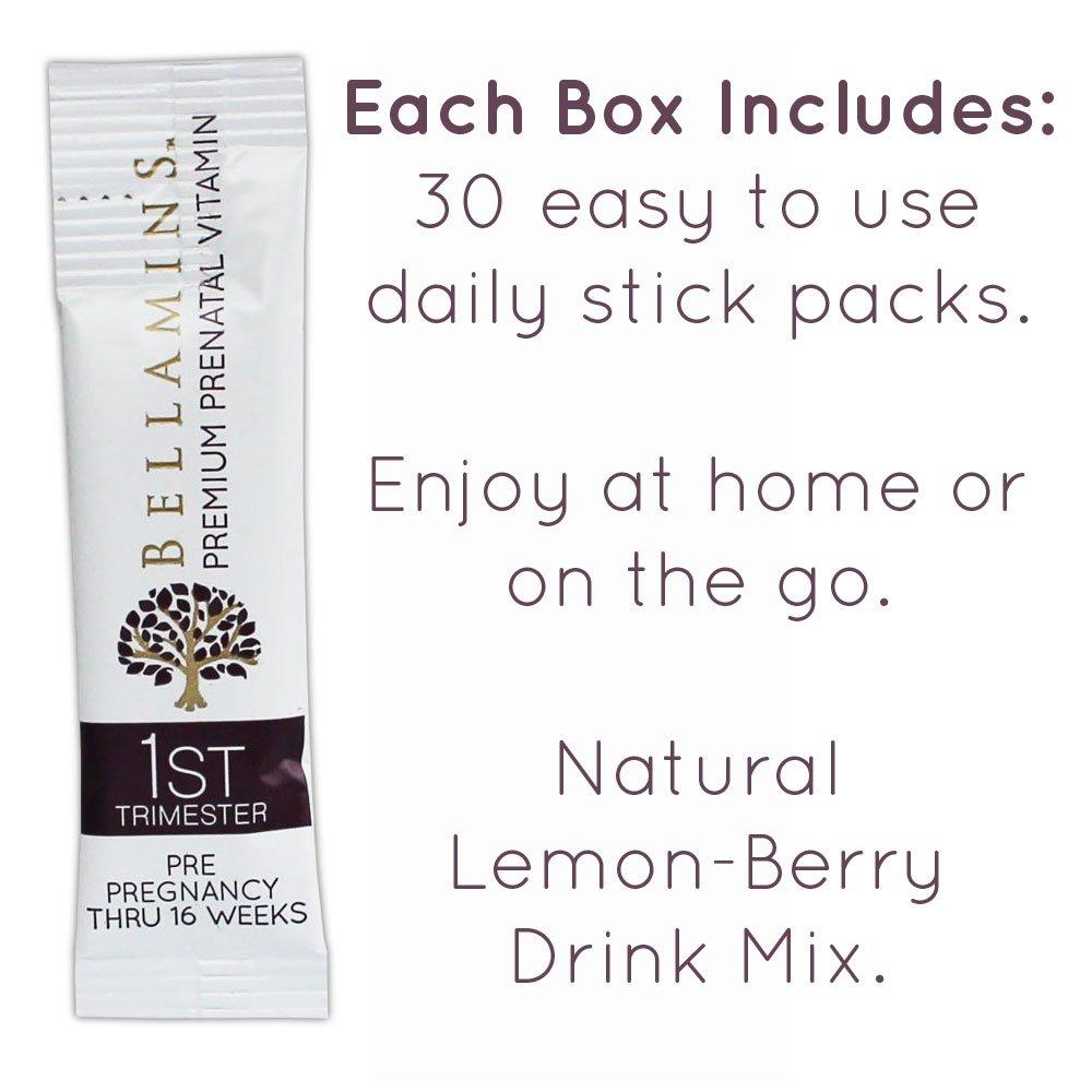 Amazon.com: Prenatals for 1st TRIMESTER development | Berry-Lemonade drink  mix | With Probiotics, and Body-Ready Folic Acid (Methyl Folate) | 30 Day  Supply ...