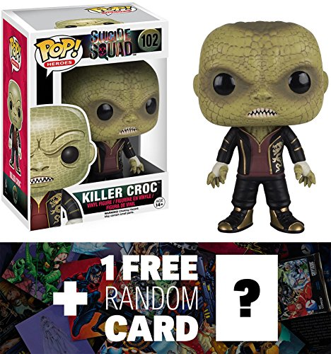 Killer Croc: Funko POP! x Suicide Squad Figure + 1 FREE Official DC Trading Card Bundle (084035)